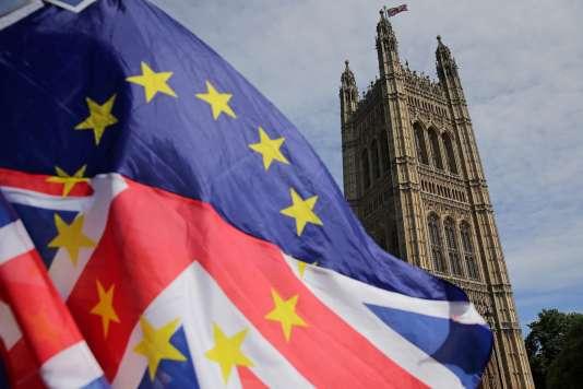 Manifestation pro-européenne aux abords du parlement britannique de Westminster, à Londres, le 11 juin.