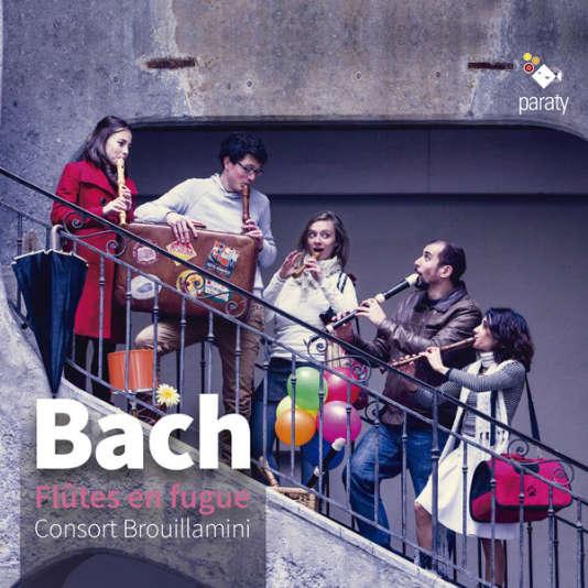 Pochette de l'album« Bach. Flûtes en fugue», par le Consort Brouillamini.