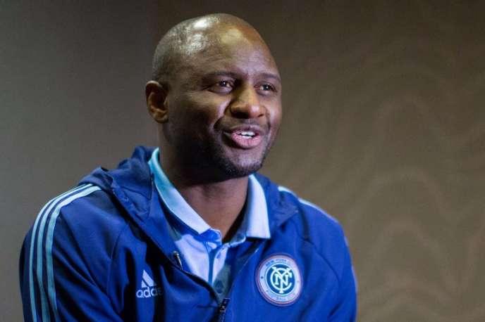 Patrick Vieira le 9 mars 2017 alors qu'il était entraîneur du New York City FC.