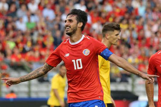 Byran Ruiz, le 11 juin 2018, lors d'un match amical à Bruxelles.
