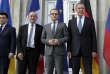 De gauche à droite, les ministres des affaires étrangères ukrainien, français, allemand et russe, lors de la réunion à Berlin, le 11 juin.