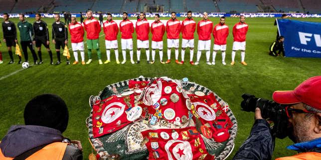 23 mars 2018 : Match de football amical entre la Tunisie et l'Iran en vue de la préparation à la coupe du monde de football en Russie en juin 2018. match au stade de Radès, banlieue sud de Tunis, avec près de 4000 spectateurs et sous une pluie intensive, la Tunisie remporte le match 1 à 0.