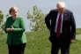 Angela Merkel et Donald Trump au sommet du G7, à Charlevoix, au Québec, le 8 juin.