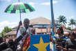Le docteur Oly Ilunga, ministre de la santé de République démocratique du Congo, lors du lancement de la campagne de vaccination contre Ebola, à Mbandaka (nord-est), le 21mai 2018.
