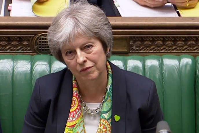 La première ministre britannique Theresa May, le 11 juin, à la Chambre des communes.