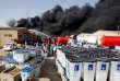 Un incendie visant un centre de dépôt de bulletins de vote, à Bagdad, dimanche 10 juin.