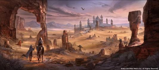 Le désert d'Alik'r dans le jeu« The Elder Scrolls Online».