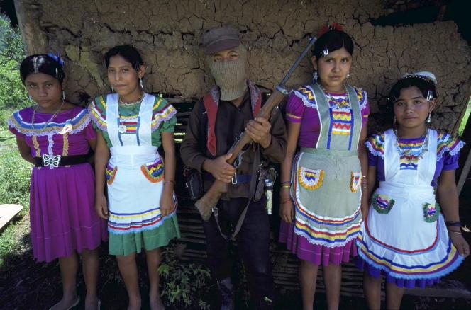 Guérilla zapatiste au Chiapas (Mexique), en 1998.