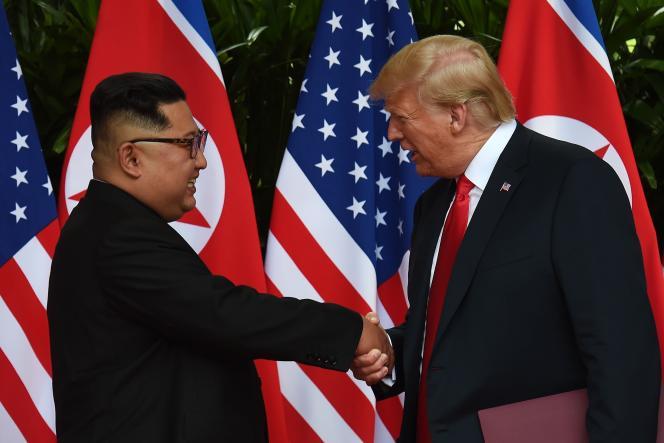 Kim Jong-un et Donald Trump à Singapour, le 12 juin 2018.
