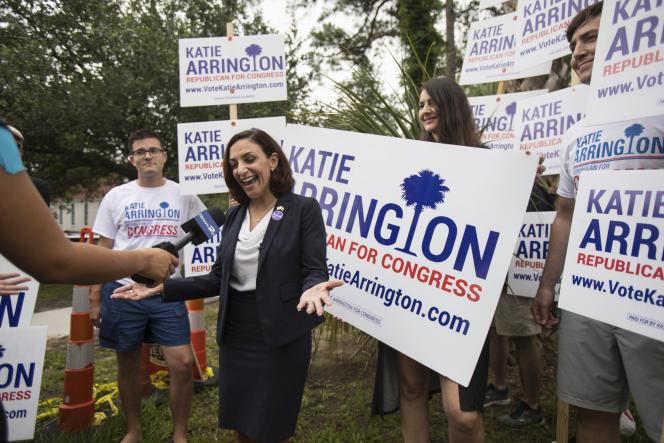 La candidate républicaine de Caroline du Sud, Katie Arrington, à Summerville, le 12 juin.