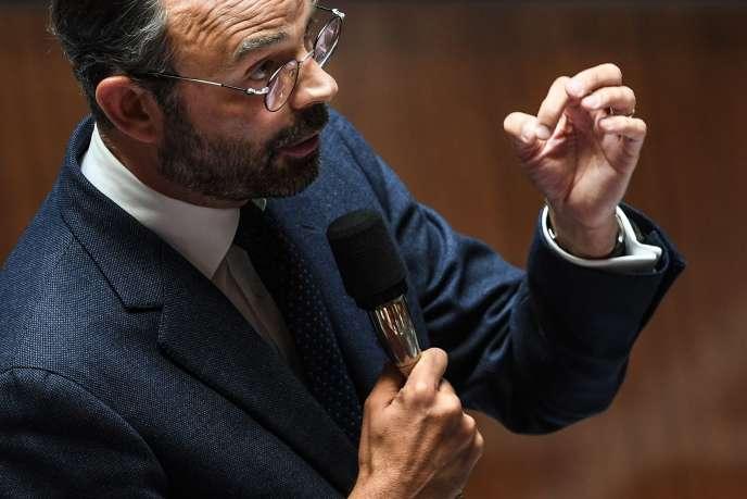 Le premier ministre, en déplacement à Metz en juin 2018, a mis en avant le rôle de l'Etat dans le financement de l'innovation, et a invoqué « la main bien visible de l'Etat ». (Photo: le premier mistre à l'Assemblée nationale, en juin 2018).