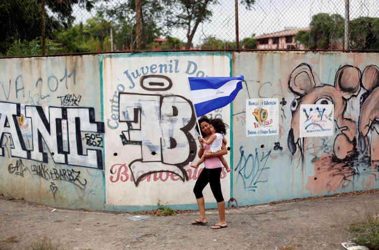 Lors d'une manifestation contre le président Daniel Ortega à Managua, le 10 juin.