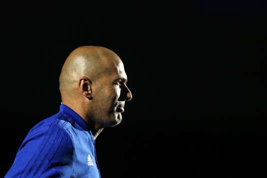 Zinédine Zidane, à Nanterre, le 12 juin.