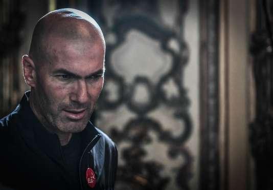 Zinédine Zidane, à Paris, le 12 juin 2018.