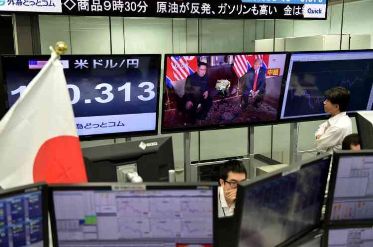 A la Bourse de Tokyo aussi, le sommet a été très suivi.