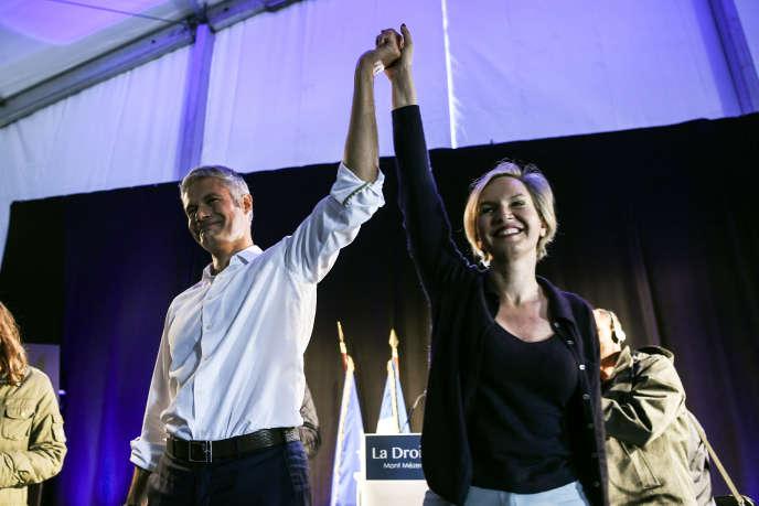Laurent Wauquiez et Virginie Calmels, aux Estables (Haute-Loire), en septembre 2017.