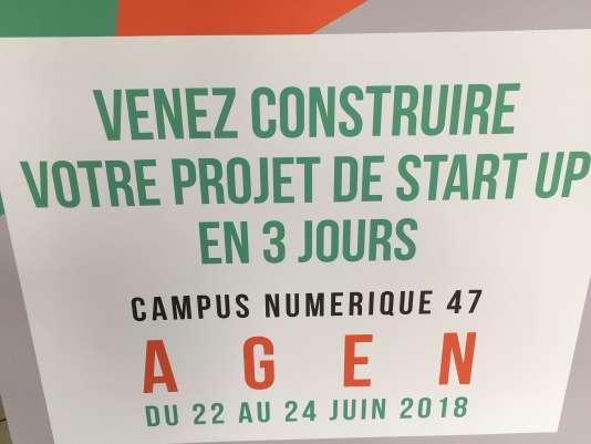 A Agen, le Campus numérique 47 propose un concours de start-up des territoires ruraux, du 22 au 24juin 2018, dont «Le Monde» est partenaire.