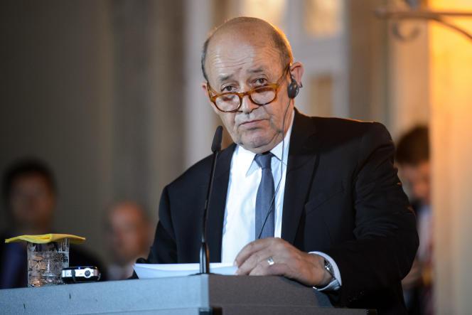 Le ministre français des affaires étrangères Jean-Yves Le Drian, à Berlin, le 11 juin 2018.