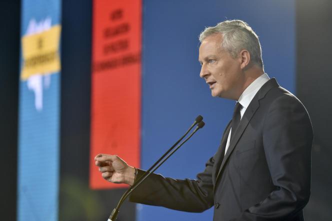 Le ministre de l'économie, Bruno Le Maire, lors de l'université d'été du Medef, à Jouy-en-Josas (Yvelines), le 30 août 2017.