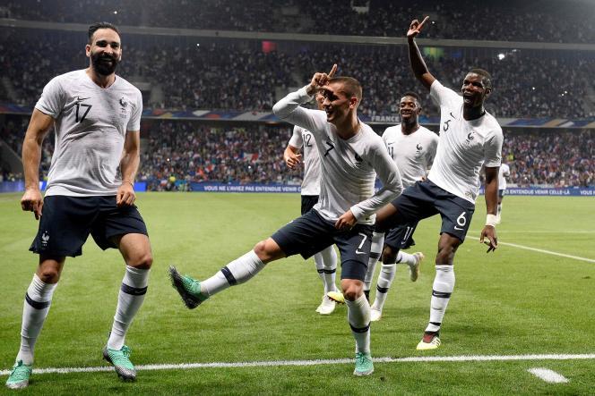 L'équipe de France lors du match face à l'Italie, le 1er juin.