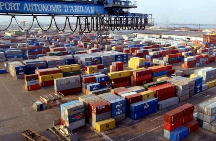 Port d'Abidjan.