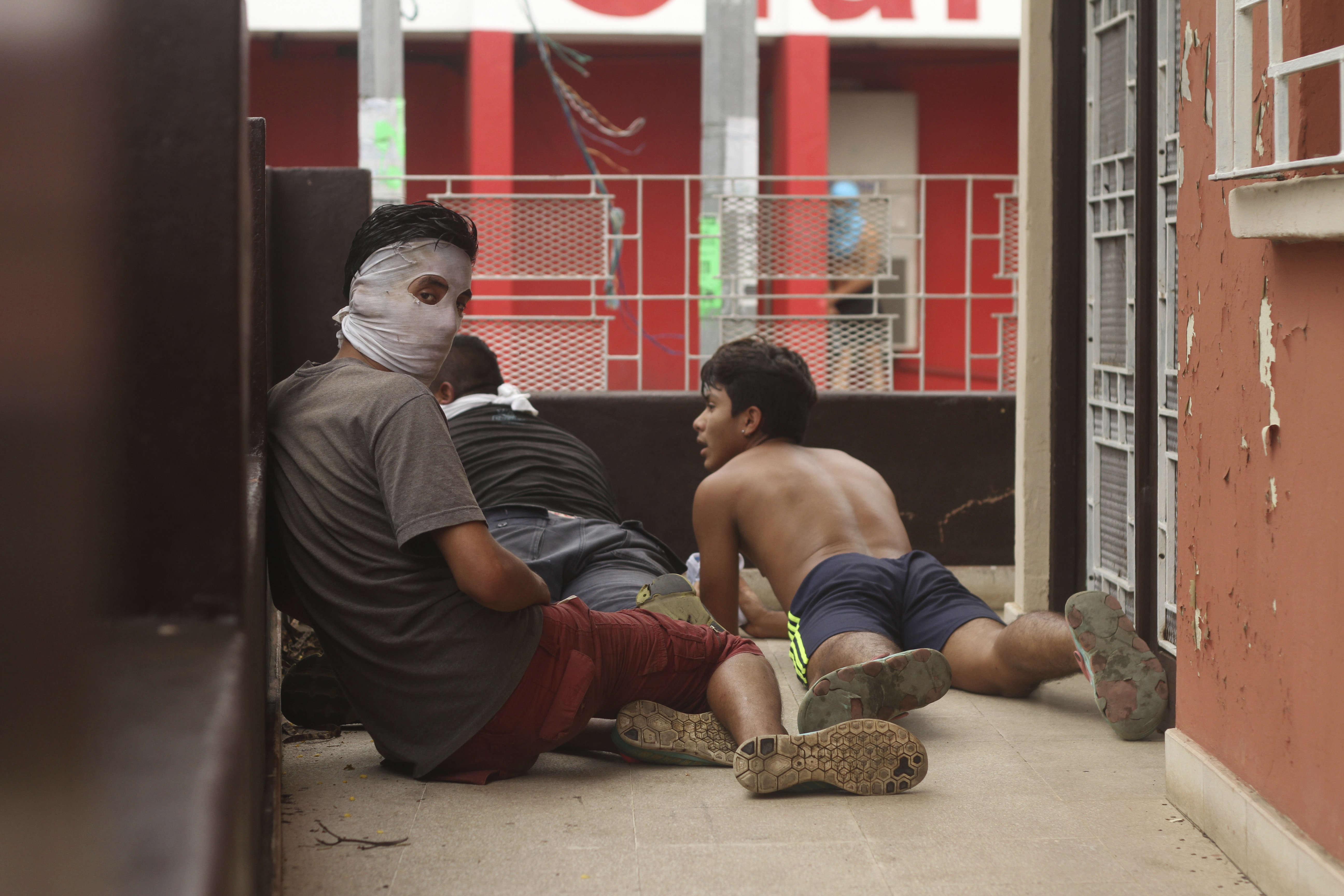 En marge d'une manifestation contre le gouvernement duprésidentDaniel Ortega, àMasaya, le 9 juin.