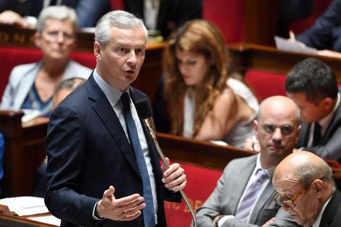 Le ministre de l'économie Bruno Le Maire à l'Assemblée nationale le 12 juin.
