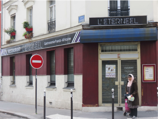 Le restaurant franco-africain l'Eternel, dans le quartier de la Chapelle, au nord de Paris.