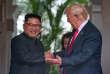 Rencontre entre Donald Trump et Kim Jong-un lors du sommet de Singapour, le 12 juin 2018.