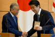 Le premier ministre malaisien Mahathir Mohamad, lors de sa rencontre avec son homologue japonais,Shinzo Abe, à Tokyo,le 12 juin 2018.