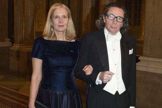 Jean-Claude Arnault et son épouse,Katarina Frostenson, le 11 décembre 2011.