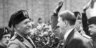 Benito Mussolini et Adolf Hitler à Venise, le 14 juin 1934.