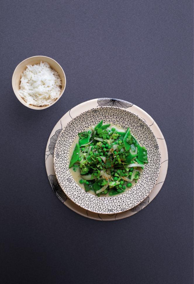 Le curry vert et ses légumes croquants.