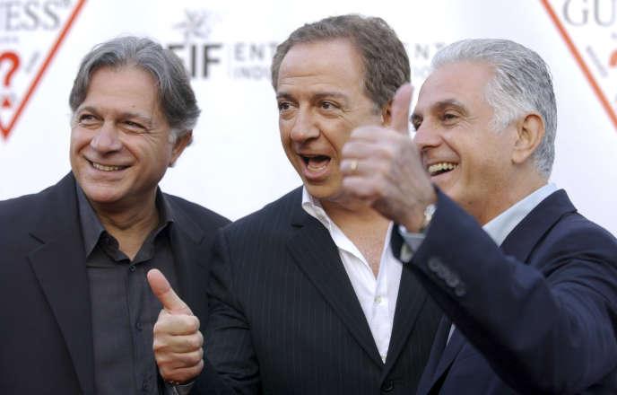 En 2009, les cofondateurs de Guess, les frères Marciano (de gauche à droite) : Armand, Paul et Maurice.