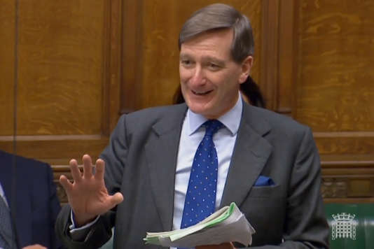 Le député conservateur et ancien procureur général du Royaume, Dominic Grieve, durant sa déclaration devant la Chambre des communes, à Londres, le 12 juin.