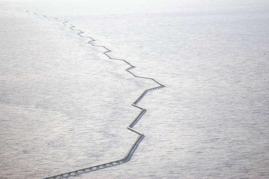Le trans-Alaska oil pipeline, en 2006.