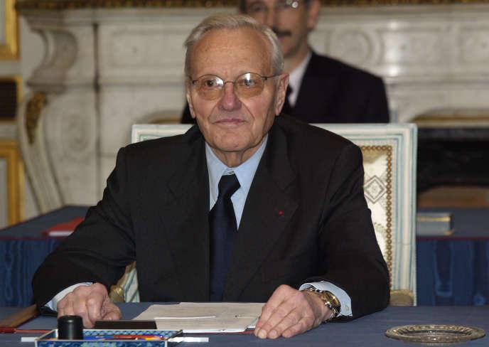L'ancien ministre Pierre Mazeaud, ici en mars 2004, à Paris.
