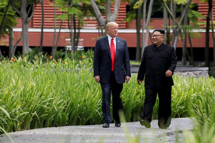 Donald Trump et Kim Jong-un, à Singapour, le 12 juin.