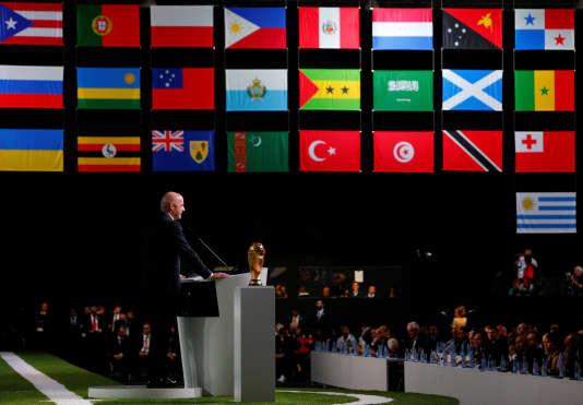 Le président de la FIFA, Gianni Infantino, le 13 juin 2018.