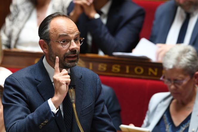 Le premier ministre, Edouard Philippe, lors des questions au gouvernement, à l'Assemblée nationale, le 12 juin.