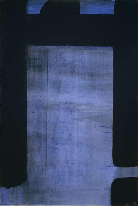 """«Pierre Soulages montre avec cette gouache que la lumière peut être créée non par la traditionnelle opposition du blanc et du noir, mais en recouvrant la totalité du papier, sans aucune réserve. Il ose ici ce qu'il ne tentera sur toile que deux ans plus tard, avec l'""""outrenoir"""". Ainsi, le papier lui sert, comme dans ses peintures sur papier précédentes, de lieu d'expérimentation.»"""