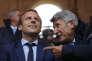 Emmanuel Macron et Philippe de Villiers, au Puy du Fou, aux Epesses (Vendée), en août 2016.