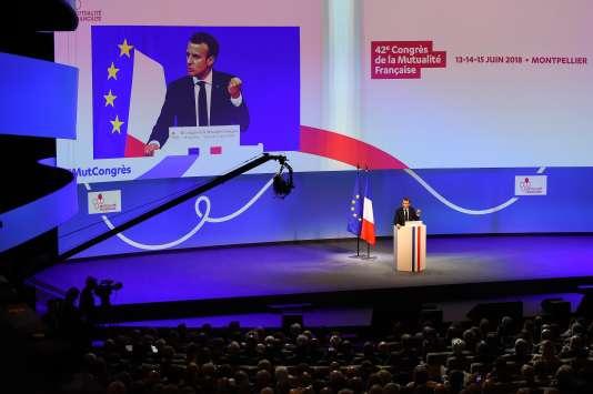 Emmanuel Macron a également annoncé la présentation d'une loi sur les retraites en 2019, lors du congrès de la mutualité française, le 13 juin à Montpellier.