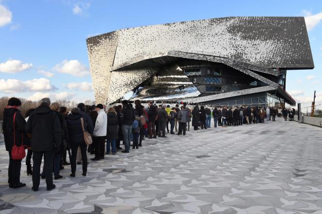 La Philharmonie de Paris, au cœur du parc de La Villette, lors d'une journée portes ouvertes en janvier 2015.
