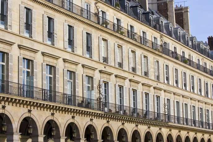 La rue de Rivoli, au coeur de Paris.