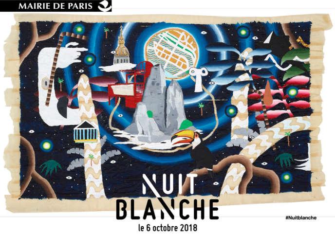 L'affiche de l'édition 2018 de la Nuit blanche parisienne, qui se déroulera le 6 octobre.