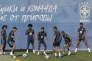 Les Brésiliens à l'entraînement, le 13 juin à Sotchi.