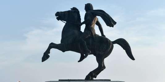 Statue d'Alexandre le Grand à Thessalonique, le 12 juin 2018/ AFP / Sakis MITROLIDIS.