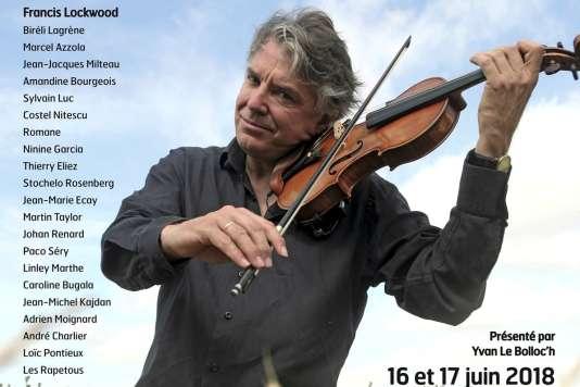 Affiche du Festival Didier Lockwood. Photographie du violoniste : Thomas Dorn.