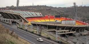 Le stade Hrazdan, à Erevan, en Arménie, aujourd'hui à l'abandon.